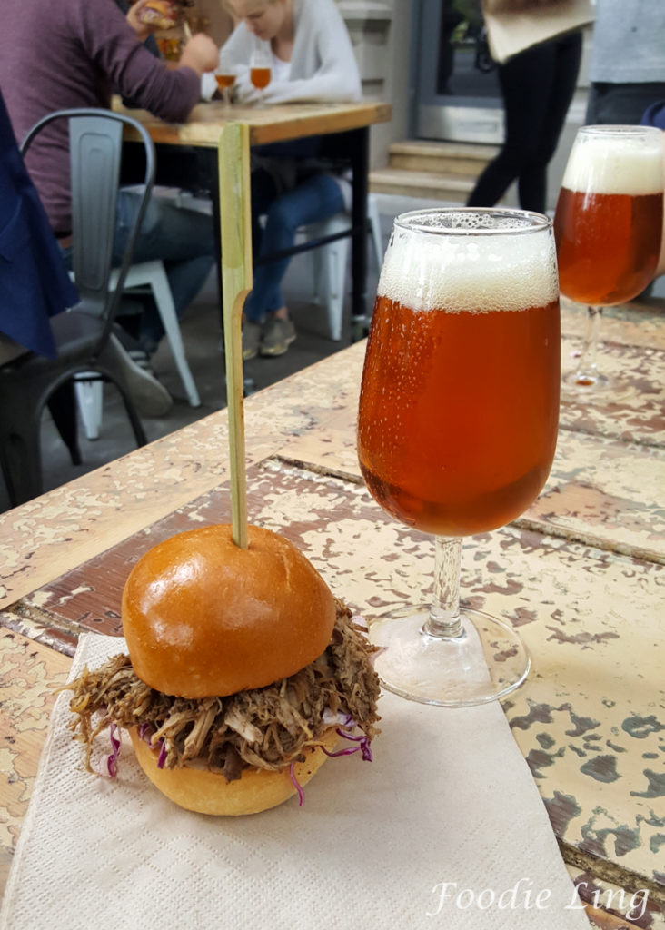 Chop Shop Pale Ale and Pulled Pork Slider